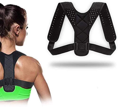 QUNPON Gerader Rücken Posture Support Rückengurt für Schulterschmerzen Schultergurt Rückenstütze Haltungskorrektur Rücken Geradehalter für Damen Herren Unisex
