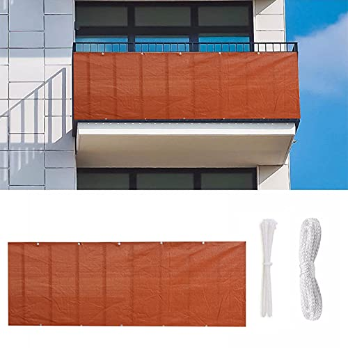 JMBF Balkon Sichtschutz Terrassenschutz 90 X 500 cm Balkonabdeckung, Für Balkone, Gardens,uv-Schutz, Windschutz, Wasserdicht, Sonnenschutz, Mit Kabelbindern Und Seil