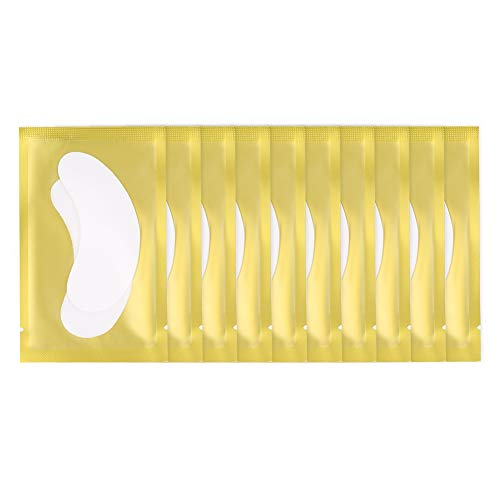Clean Eyelash Extension Patches, Eye Patch, Girls for Home Beauty Shop Makeup Artist(10 packs in gold)