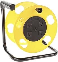 Bayco SL-2000PDQ 4 PLUG CORD REEL, Yellow & Black