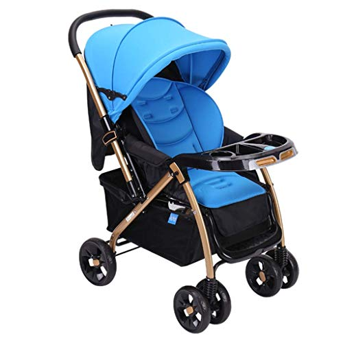 Lowest Price! Yyqt Baby Stroller, Lightweight Folding Can Sit Reclining Stroller Child Baby High Car...