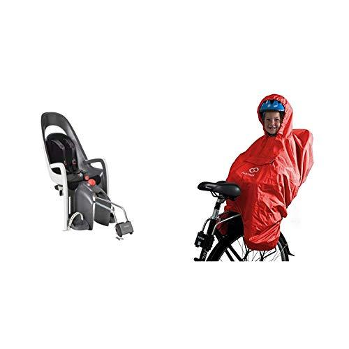 Hamax Kindersitz Fahrrad hinten Caress Testsieger schwarz Kinderfahrradsitz Baby & Regenschutz Fahrradsitz Regencape Kinder Fahrrad Regenschutz Kindersitz Fahrrad