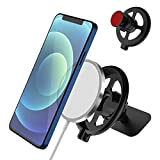 [2PCS Pack] for Magsafe Car Phone Mount,TOLUOHU Dashboard 360° Phone Holder for Office/Home Table Desk Compatible with MagSafe Charger for Phone 12,12 Pro, 12 Mini, 12 Pro Max