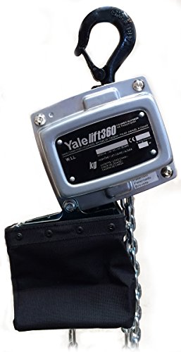 Yale amz1021244 Handkettingkoord met kettinghouder, 360 MKIII, enkele hoes, standaard afwerking, 1000 kg, 6 m