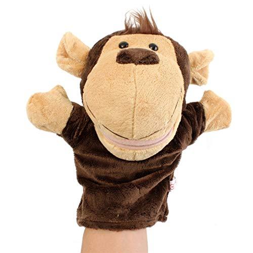 Toyvian Handpuppen AFFE Zoo Tier Plüschpuppen Cartoon Geschichte Erzählt Puppen für Fantasievolle Spiel Strumpf Stuffer Geburtstagsfeier Gunst Lieferungen