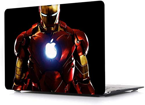 For MacBook Pro 13 Case 2018 2017 2016 Release A1706/A1708/A1989, RQTX Plastic Hard Case Laptop Cover for MacBook Pro 13 Inch with/Without Touch Bar and Touch ID - Iron Man LRS350