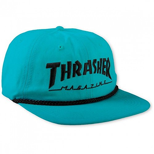 Thrasher Rope Snapback Cap Teal/Black One Size