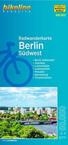 Radwanderkarte Berlin Südwest (RW-B03): Berlin-Zehlendorf – Jüterbog – Luckenwalde – Ludwigsfelde – Potsdam – Treuenbrietzen, 1:60.000, ... mit UTM-Netz (bikeline Radwanderkarte)