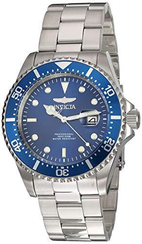 Invicta 22019 Pro Diver Reloj para Hombre acero inoxidable Cuarzo Esfera azul