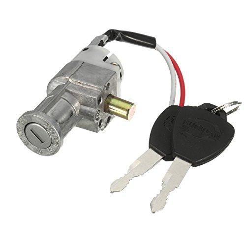 Alamor Batería Chager Mini Lock con 2 Llaves para Motocicleta Eléctrica Bike...