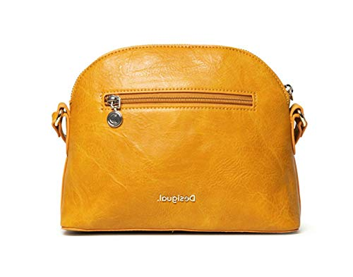 Desigual Accessories PU Across Body Bag, Sac de Sport Femme, Jaune, U