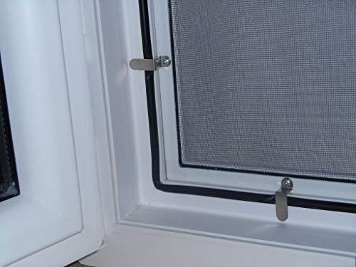 Fliegengitter- Fenster- Mücken- Insektenschutz- Alu-WEISS - Better - View bessere Durchsicht- optimal für Rolläden (130cm x 150cm, 8 Stk 25mm Winkel)