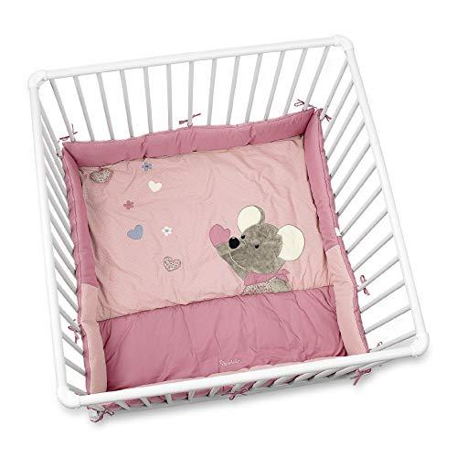 Sterntaler Fond de Parc Souris Mabel, Âge : Pour Bébé dès la Naissance, 100 x 100 cm, Rose/Multicolore