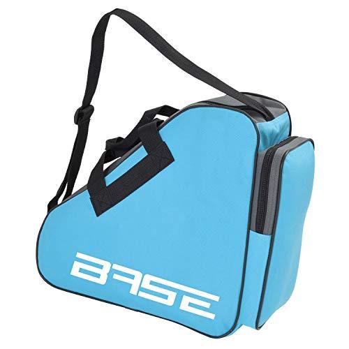 BASE - Skatebag I Schlittschuhtasche mit Henkeln I Eishockey-Bag mit Reisverschluss & praktischen Fächern I inkl. verstellbarem Trageriemen, hellblau