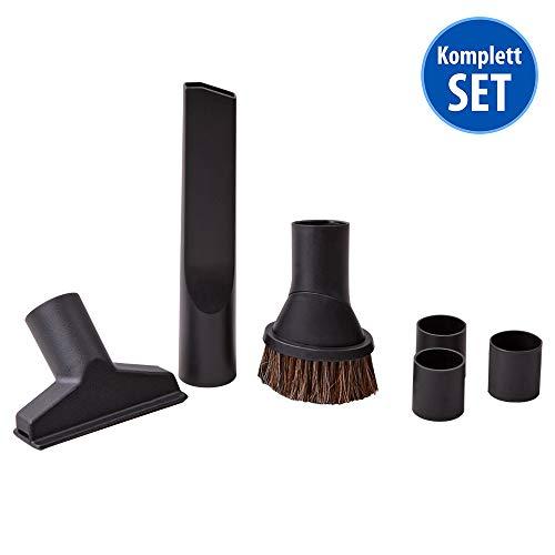 Saugdüsenset 6-tlg. für Staubsauger geeignet für 32 mm 35 mm Rohrdurchmesser Fugendüse, Saugbürste, Saugpinsel, Adapter