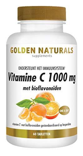 Golden Naturals Vitamine C 1000 mg met bioflavonoïden (60 veganistische tabletten)