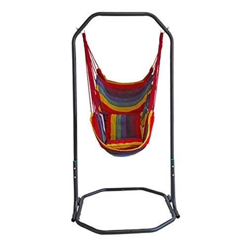 QETYHH Beugel stoel tuin recreatieve schommel balkon indoor stoel canvas hangmat schommelstoel B