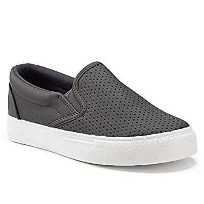 jenn-ardor Women's Slip On Sneakers Perforated...
