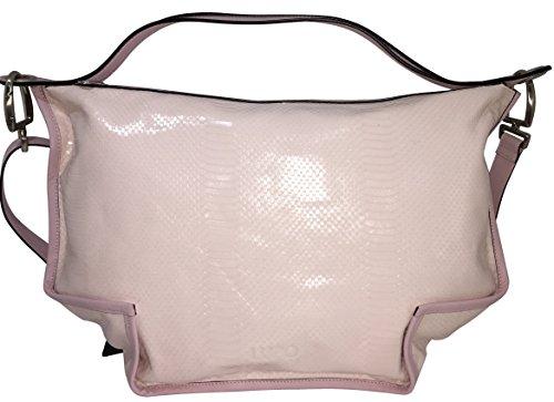Lupo - Bolso al hombro de piel para mujer Rosa rosa claro L