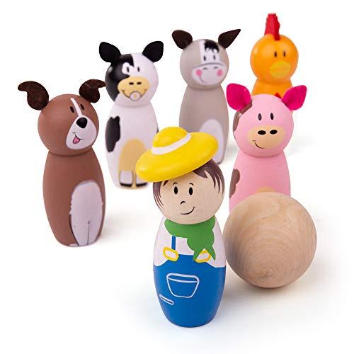 Bigjigs Toys Wooden Farm Skittles
