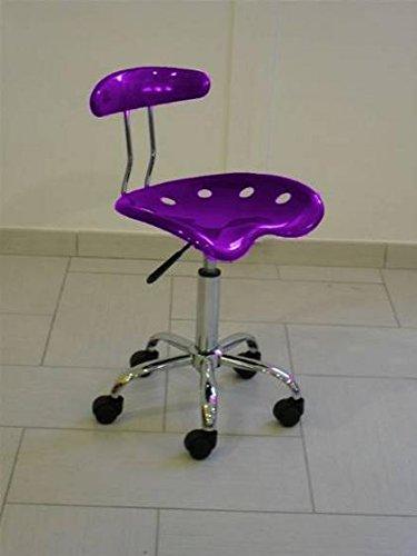Draaibare bureaustoel, violet