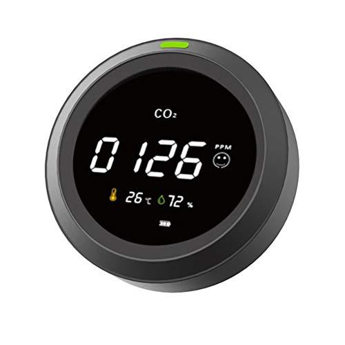 Kylewo CO2 Messgerät 3 in 1 Kohlendioxid Detektor, CO2 Messgerat mit Umgebungstemperatur und Luftfeuchtigkeit, Tragbarer Wiederaufladbarer für Innenraumluft, Büro, Auto