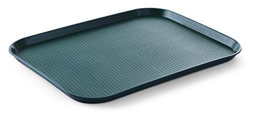 HENDI Serviertablett, Tablett, Temperaturbeständig bis 80°C, Fastfood, Polypropylen, 350x450x(H)20mm, Groß, Grün