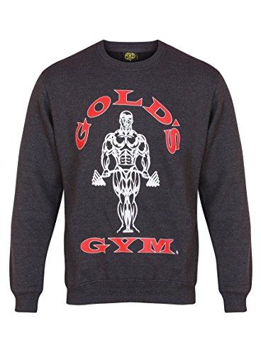 Golds Gym Herren Sweatshirt, dunkelgrau, M