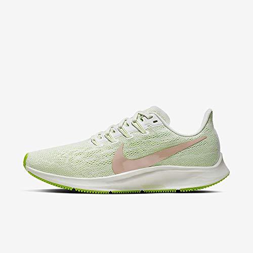 Nike Wmns Air Zoom Pegasus 36, Zapatillas de Atletismo para Mujer, Multicolor (Phantom/Bio Beige-Barely Volt 2), 40 EU