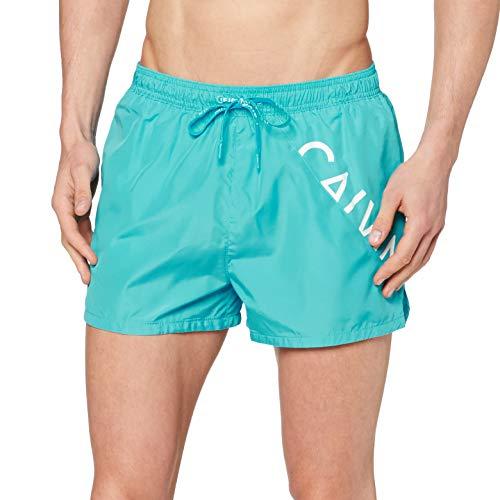 Calvin Klein Short Drawstring Pantalones Cortos, Scuba Blue, Medium para Hombre