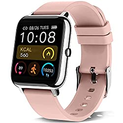 KALINCO Smartwatch, 1.4 Zoll Touch-Farbdisplay Fitness Tracker mit Blutdruckmessung, Smart Watch Pulsuhr Schlafmonitor Sportuhr IP67 Wasserdicht Schrittzähler für Damen Herren