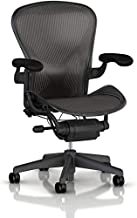 Herman Miller Aeron Office Chair-Size B Fully Loaded with Posture Fit Back Support(Renewed)