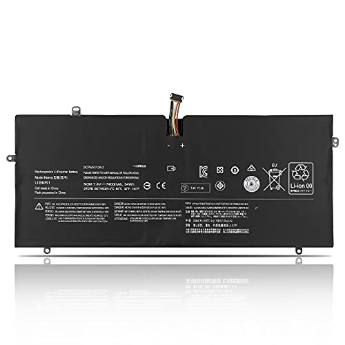 K KYUER 54Wh L12M4P21 L13S4P21 Laptop Batteria per Lenovo IdeaPad Yoga 2 Pro 13 13.3 Inch 2-in-1 Convertible Ultrabook Tablet PC Replacement Notebook Battery 121500156 21CP5/57/128-2 (7.4V 7400mAh)