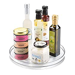 Kitchen organization products including a lazy susan.