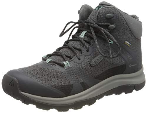 KEEN Women's Terradora 2 Waterproof Mid Height Hiking Boot, Magnet/Ocean Wave, 7.5