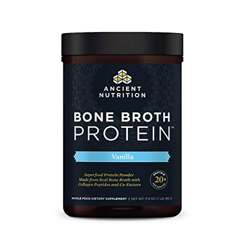 Ancient Nutrition Bone Broth Protein Powder, 20g Protein Per Serving, Paleo, Low Carb Superfood, Vanilla, 17.4 Ounce