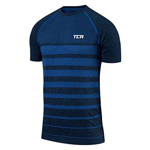 TCA Quickdry SuperKnit Herren Trainingsshirt/Laufshirt - Blau, M