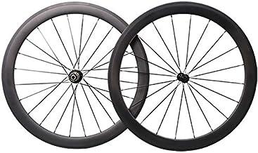 ICANIAN Carbon Fiber Road Bike Wheels 700c Clincher Tubeless Ready Wheelset 50mm Deep 25mm Width Rim Brake