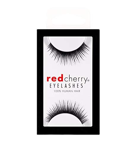 Rouge cerise 100% cheveux naturels cils # 1