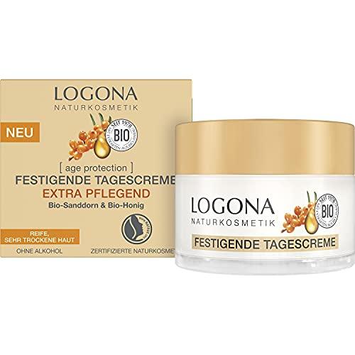 LOGONA Naturkosmetik Festigende Anti-Aging Tagescreme für reife, sehr trockene Haut, Mit...