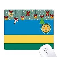 ルワンダはアフリカの国の国旗 ゲーム用スライドゴムのマウスパッドクリスマス