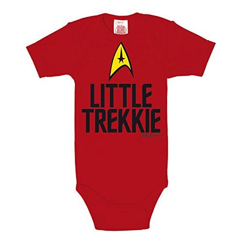 Body bébé Star Trek Little Trekki qualité de marque coton rouge - 50/56