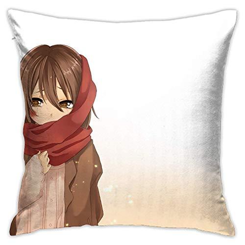 Bosbweo Attack On Titan - Fundas de almohada con bonitas fundas de almohada de 45,7 x 45,7 cm para dormitorio y sofá de sala de estar