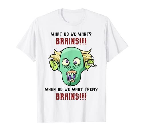 Los zombis comen cerebros - Zombi de las animadoras Camiseta