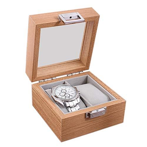 ZHUSHI Caja de Reloj de Madera Organizador de Almacenamiento para Relojes Reloj Soporte de Vitrina Cajas de Almacenamiento Regalo (Size : A)