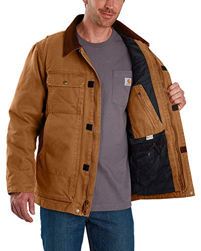 Carhartt Herren Full Swing Traditional Coat Arbeitsoberkleidung, Braun, Small