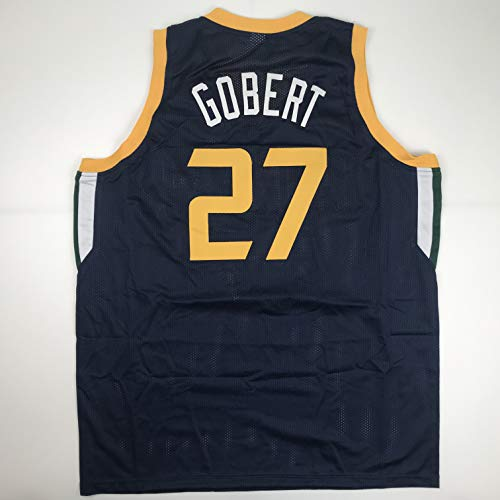 Unsigned Rudy Gobert Utah Navy Custom Stitched Basketball Jersey Size Men's XL New No Brands/Logos