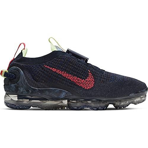 Nike Air Vapormax 2020 FK, Zapatillas para Correr Hombre, Obsidian Siren Red Barely Volt Anthracite Deep Royal Blue Midnight Navy, 42 EU