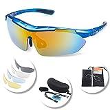 KuKoTi, occhiali da sole sportivi polarizzati per uomo e donna, occhiali da guida con 5l...