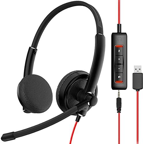 NUBWO HW01 USB Headphone/ 3.5mm Com…